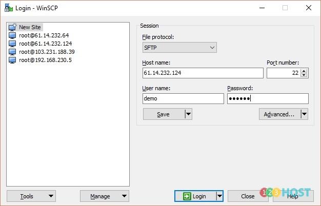 Hướng dẫn sử dụng WinSCP để truy cập và download/upload file