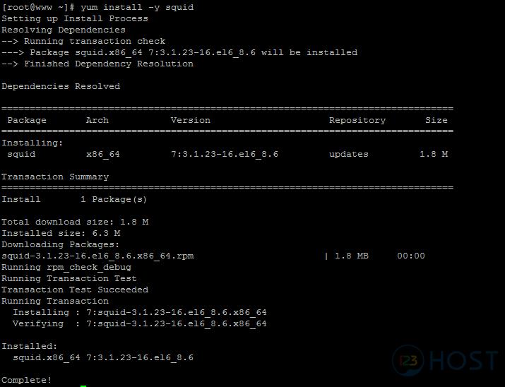 Cài đặt Proxy server (Squid) trên CentOS - Tài liệu 123Host