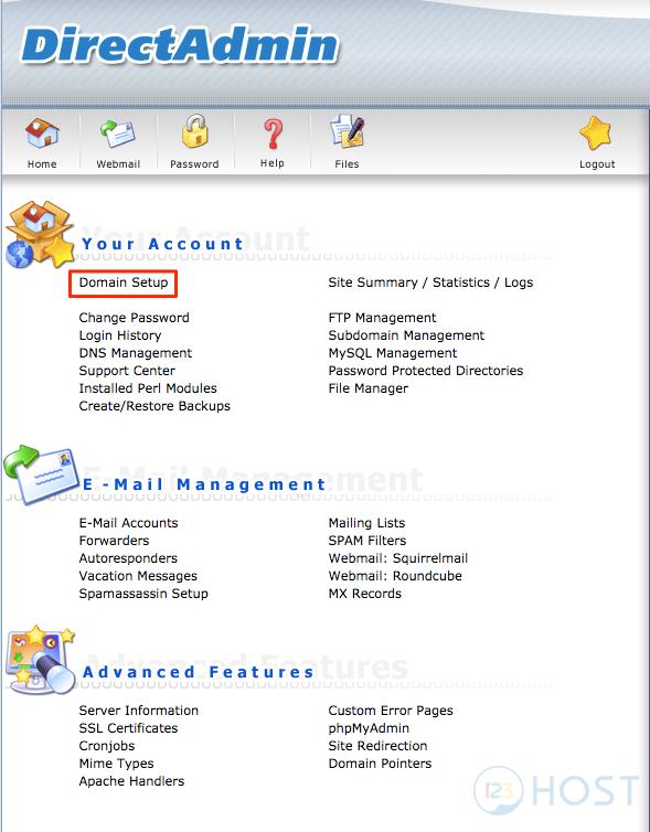 Hướng dẫn kích hoạt SSL trên DirectAdmin - Tài liệu 123Host